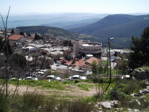 Tzfat from above, looking down on the Artists' Quarter