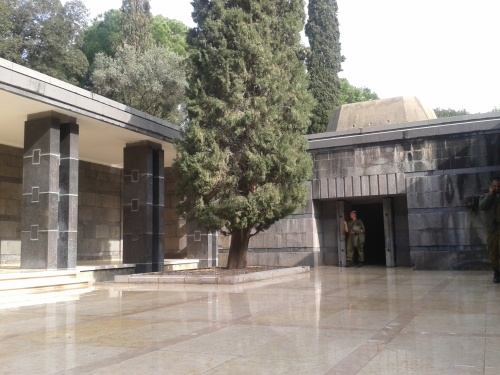 The courtyard outside the crypt