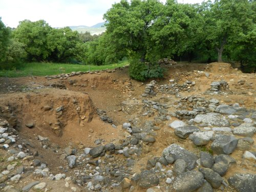 Excavated ruins of Tel Dan