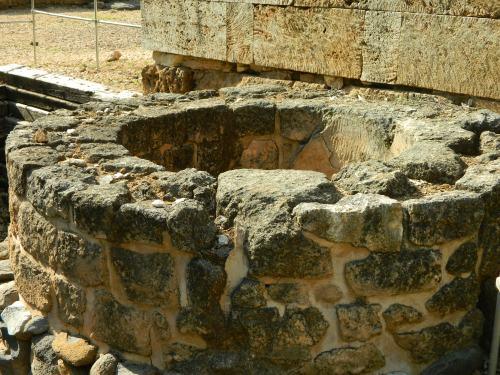Stone and plaster cistern