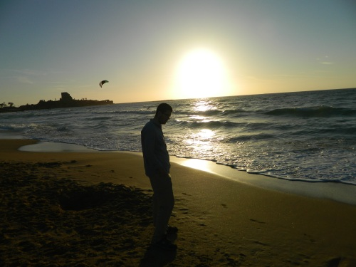 Sunset at the coast in Atlit