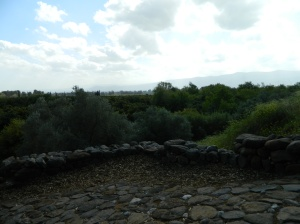 Walls from the Israelite Gate area