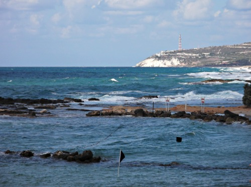 Choppy coastline to Rosh HaNikra