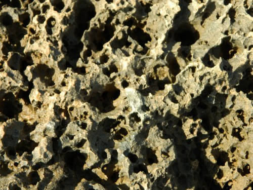 Razor-sharp porous rock