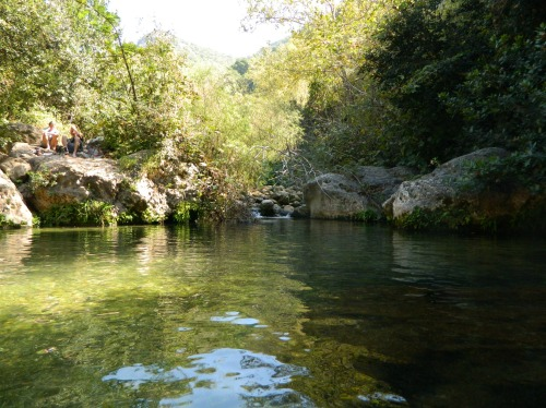 Nachal Kziv's main swimming hole