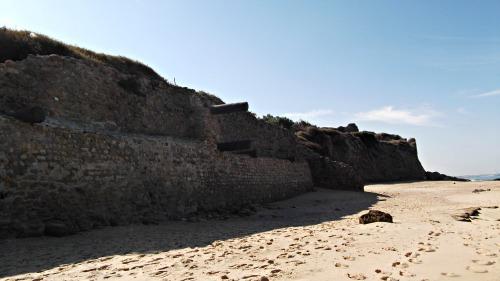 City ruins on the beach