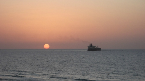 Of ship and setting sun...