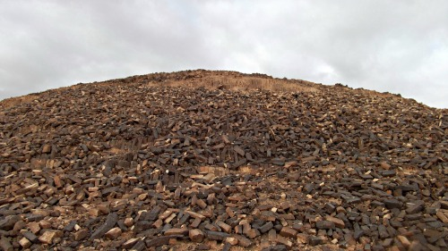 A huge pile of natural bricks