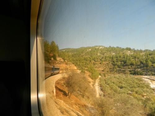 Approaching Jerusalem by train