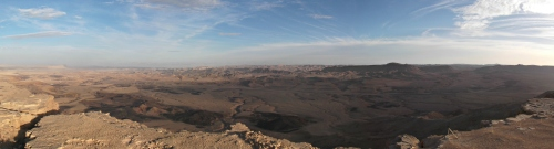 Panoramic of the Ramon Crater