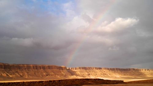 Rainbow over Ramon Crater