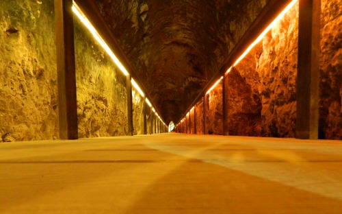 The 70-metre long tunnel