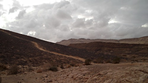 The Carpentry Shop on the left with Mitzpe Ramon in the distance