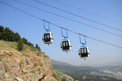 Manara Cliff cable-car (photo by Igor Svobodin, Panoramio)