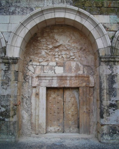 Ornate central door of the cave of Rabbi Yehuda HaNassi