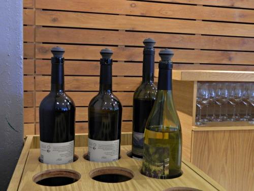 Taste testing the wines