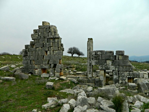The remainder of the Roman temple