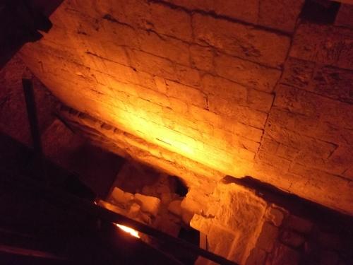 A deep achaeological pit