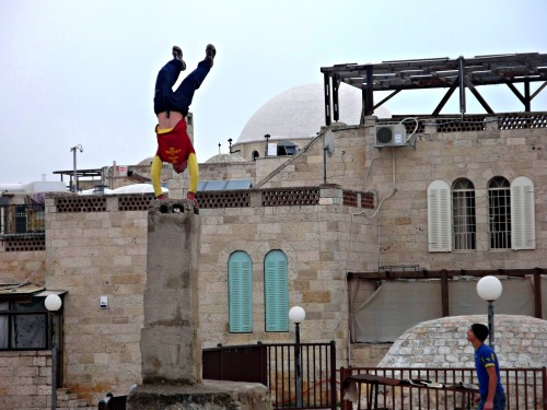Arab rooftop parkour