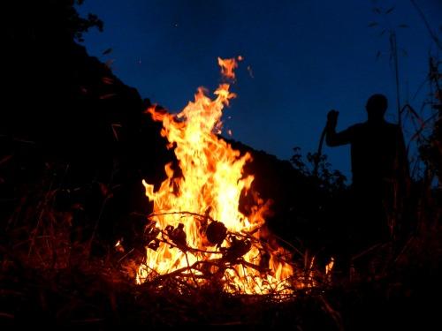 Impromptu bonfire
