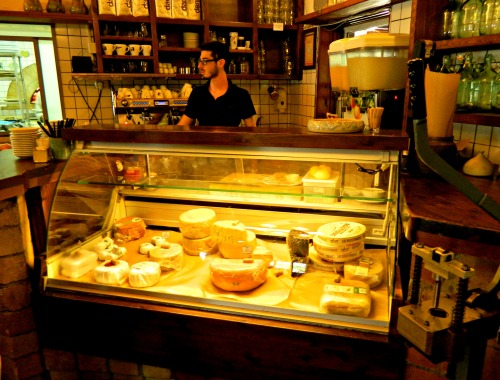 The winery's cheese counter