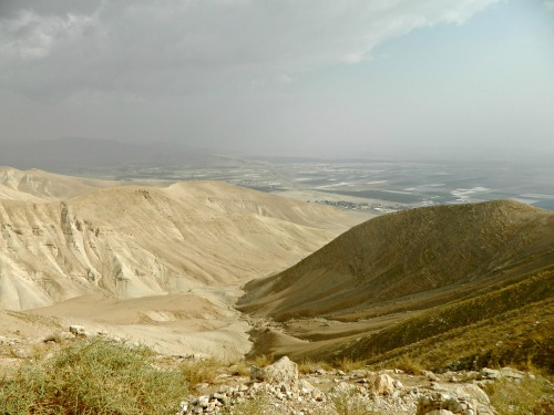 Looking down towards the Jordan River Valley