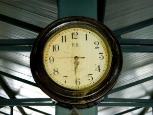 Old train station clock