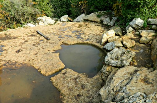Ancient winepress now salamander pool