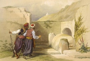 """Tomb of Joseph at Shechem"" (1839) by David Roberts"