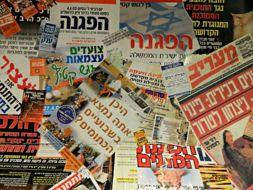 Stickers and posters of the Orange Struggle