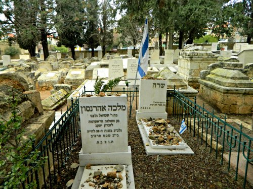 Graves of Sarah Aaronsohn and mother Malka