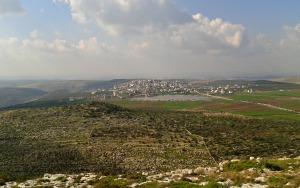 Looking across at Deir El-Mir and Deir Balut