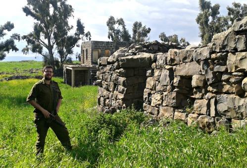 Posing among the ruins