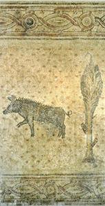 Wild boar mosaic