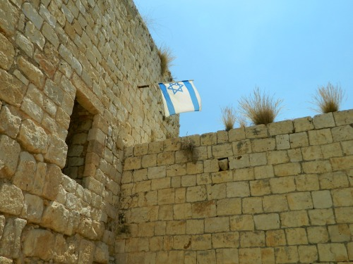 Israeli flag flying proud