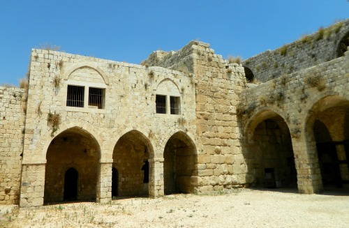The Crusader keep flanked by arched Ottoman rooms