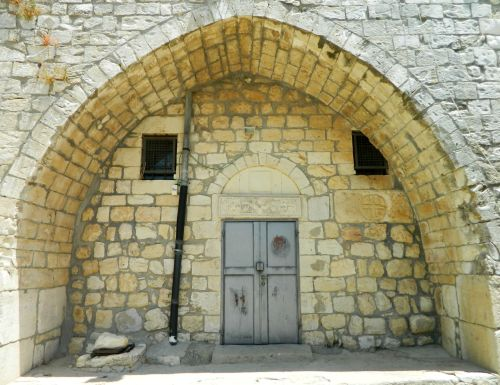 Entrance to the Maronite church