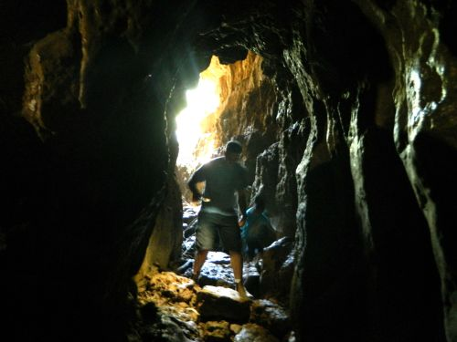 Visitors in the Pa'ar Cave