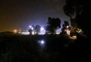 Crossing the Maccabiah Bridge at the Ayalon Mall