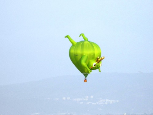 Whimsical frog king balloon