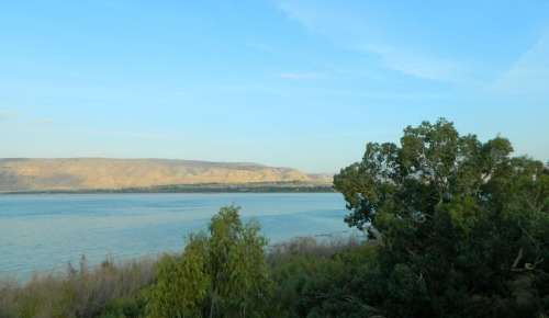 View of the Kinneret from above Tel Beit Yerach