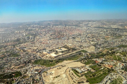 Aerial photo of Jerusalem by Ron Gafni