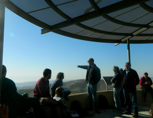 Dr Dvir Raviv giving the 360° tour at Mitzpe Dani