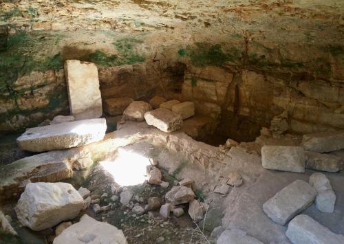 Underground olive press cave