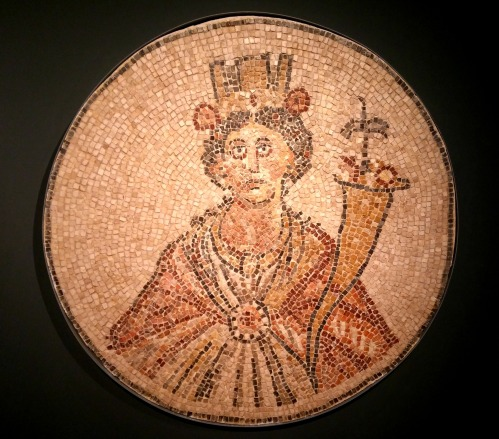 Mosaic of Greek goddess Tyche from Bet Shean