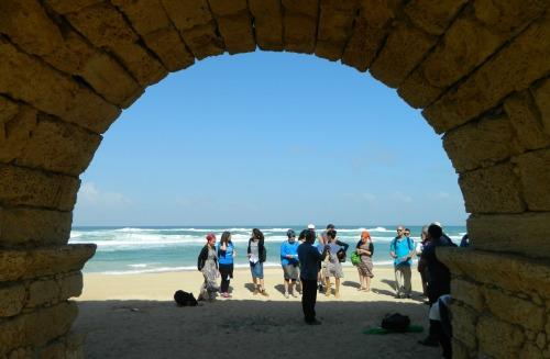 Caesarea's iconic aqueduct by the sea