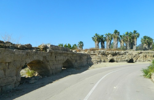 The bend in the Herodian aqueduct