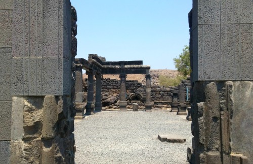 Peeking inside the ancient synagogue