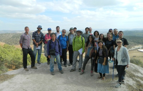Group photo on Tel Azeka