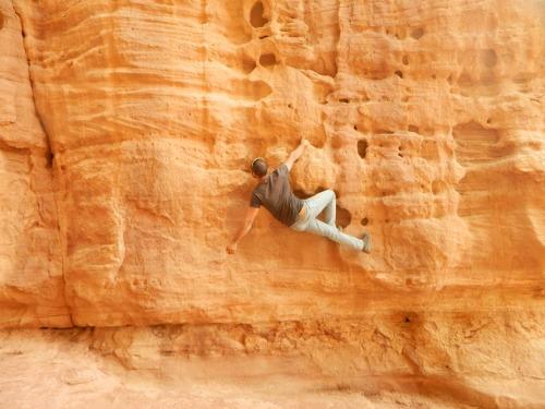 A bit of free-climbing